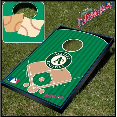Oakland Athletics Tailgate Toss Cornhole Beanbag Game