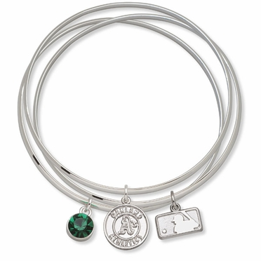 Oakland Athletics Triple Bangle Bracelet