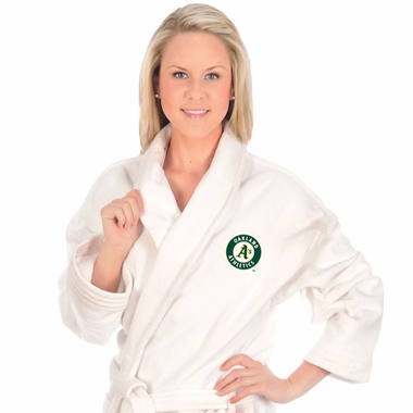 Oakland Athletics UNISEX Bath Robe (White)