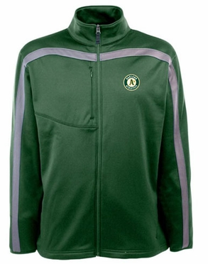 Oakland Athletics Mens Viper Full Zip Performance Jacket (Team Color: Green)
