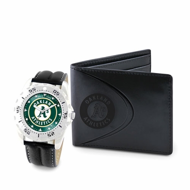 Oakland Athletics Watch and Wallet Gift Set