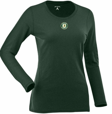 Oakland Athletics Womens Relax Long Sleeve Tee (Team Color: Green)