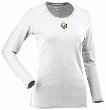Oakland Athletics Womens Relax Long Sleeve Tee (Color: White)