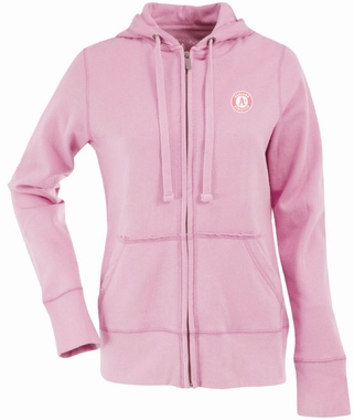 Oakland Athletics Womens Zip Front Hoody Sweatshirt (Color: Pink)