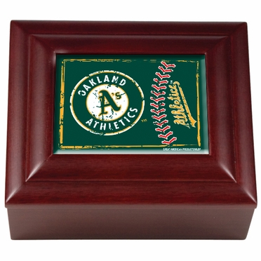 Oakland Athletics Wooden Keepsake Box