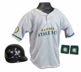 Oakland Athletics YOUTH Helmet and Jersey Set