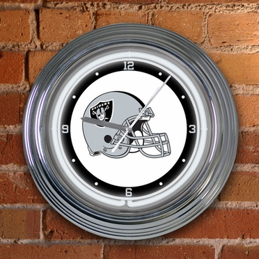 Oakland Raiders 15 Inch Neon Clock