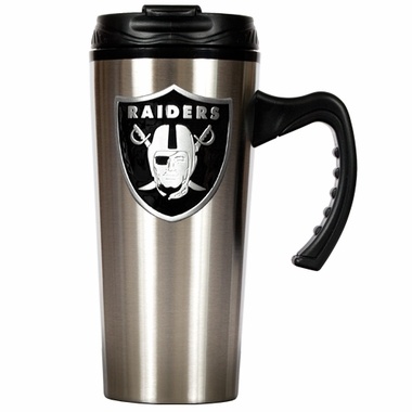 Oakland Raiders 16 oz. Thermo Travel Tumbler (Slim)