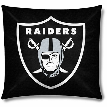 Oakland Raiders 18 Inch Toss Pillow
