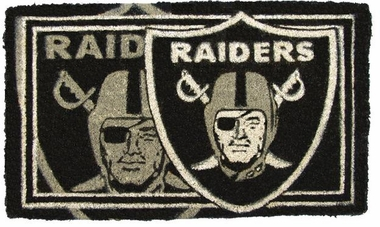 Oakland Raiders 18x30 Bleached Welcome Mat