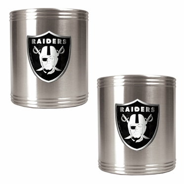 Oakland Raiders 2 Can Holder Set