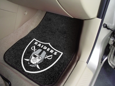 Oakland Raiders 2 Piece Car Mats