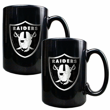 Oakland Raiders 2 Piece Coffee Mug Set
