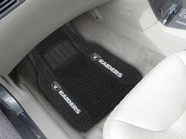 Oakland Raiders 2 Piece Heavy Duty DELUXE Vinyl Car Mats