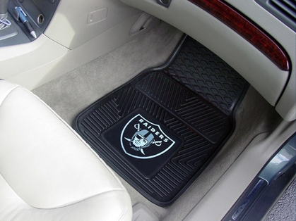 Oakland Raiders 2 Piece Heavy Duty Vinyl Car Mats