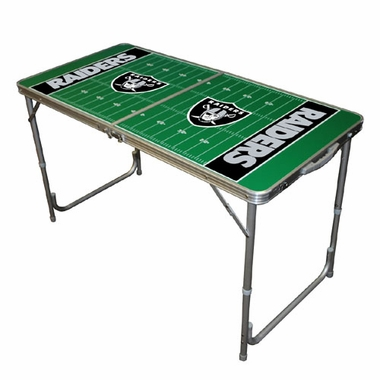 Oakland Raiders 2 x 4 Foot Tailgate Table