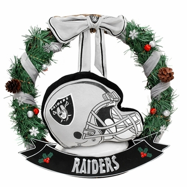 "Oakland Raiders 20"" Helmet Door Wreath"