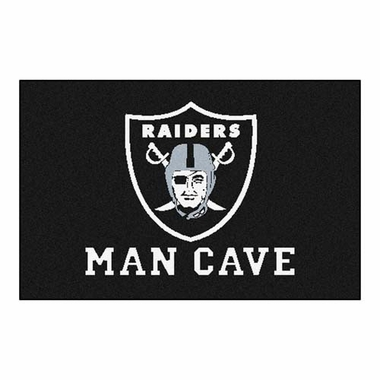Oakland Raiders 20 x 30 Man Cave Rug