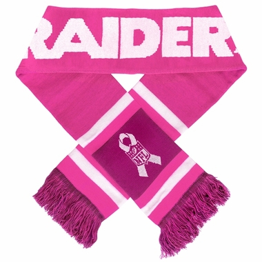 Oakland Raiders 2012 NFL Breast Cancer Foundation Team Stripe Scarf