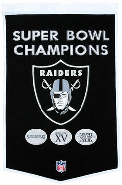 "Oakland Raiders 24""x36"" Dynasty Wool Banner"