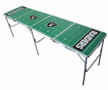 Oakland Raiders 2x8 Tailgate Table