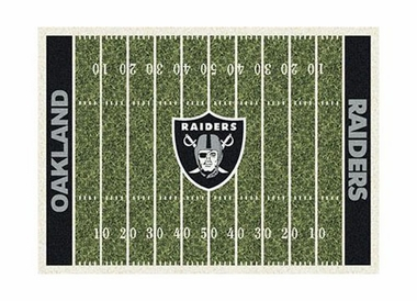 "Oakland Raiders 3'10"" x 5'4"" Premium Field Rug"