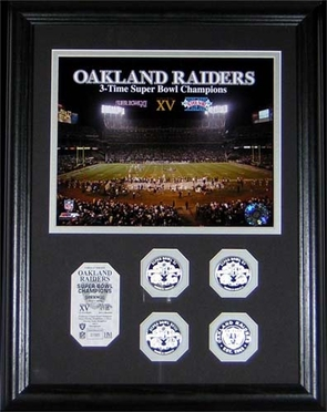Oakland Raiders Oakland Raiders 3 Time Super Bowl Champs Photomint