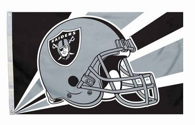Oakland Raiders 3'x5' Helmet Design Flag