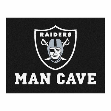 Oakland Raiders 34 x 45 Man Cave Rug