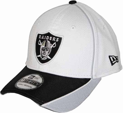 Oakland Raiders 39THIRTY Abrasion Plus Fitted Hat - White