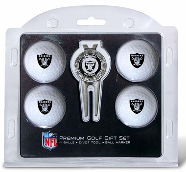 Oakland Raiders 4 Ball and Divot Tool Set