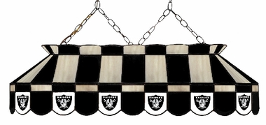 Oakland Raiders 40 Inch Rectangular Stained Glass Billiard Light