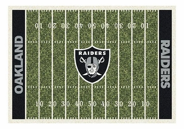 "Oakland Raiders 5'4"" x 7'8"" Premium Field Rug"