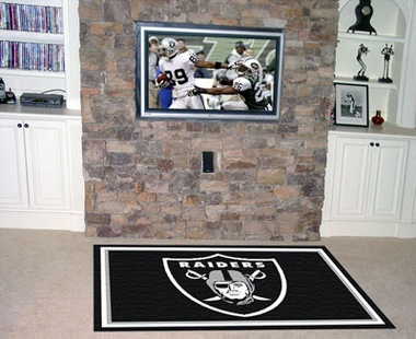 Oakland Raiders 5 Foot x 8 Foot Rug
