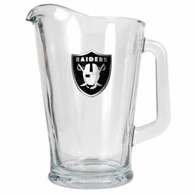 Oakland Raiders 60 oz Glass Pitcher