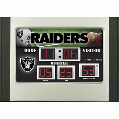 Oakland Raiders Alarm Clock Desk Scoreboard