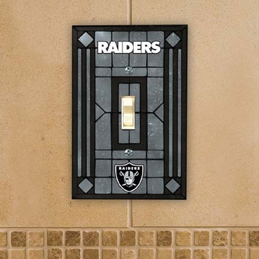 Oakland Raiders Art Glass Lightswitch Cover