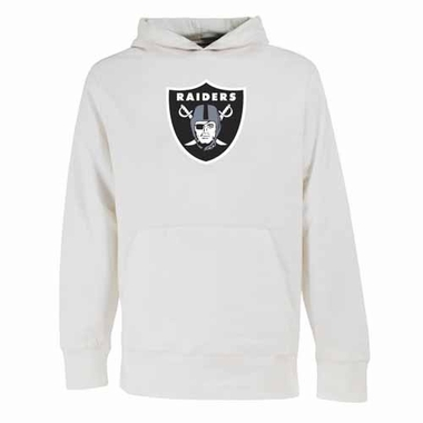 Oakland Raiders Big Logo Mens Signature Hooded Sweatshirt (Color: White)