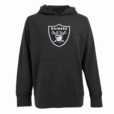 Oakland Raiders Big Logo Mens Signature Hooded Sweatshirt (Team Color: Black)