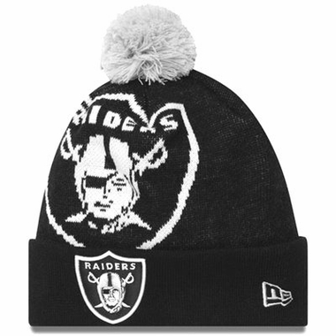 Oakland Raiders Biggie Cuffed Knit Hat