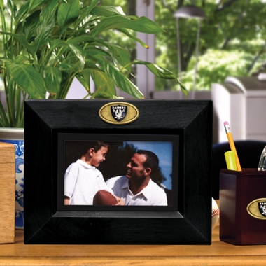 Oakland Raiders BLACK Landscape Picture Frame