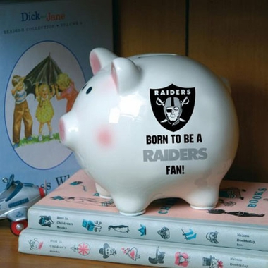 Oakland Raiders (Born to Be) Piggy Bank