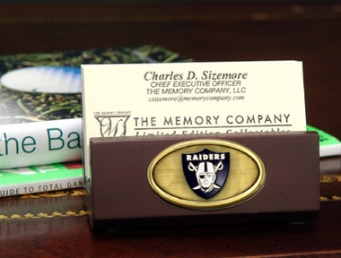 Oakland Raiders Business Card Holder