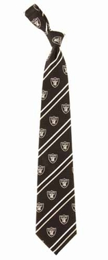 Oakland Raiders Cambridge Woven Silk Necktie