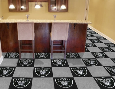 Oakland Raiders Carpet Tiles