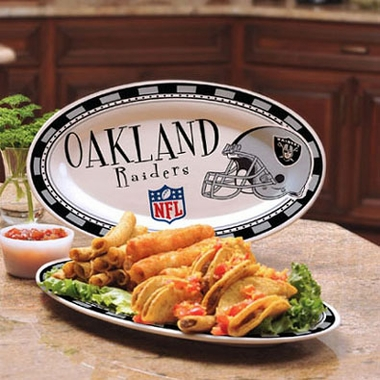 Oakland Raiders Ceramic Platter