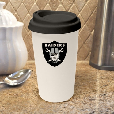 Oakland Raiders Ceramic Travel Cup