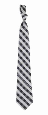Oakland Raiders Check Poly Necktie