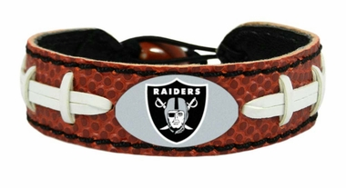 Oakland Raiders Classic Football Bracelet