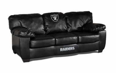 Oakland Raiders Leather Classic Sofa